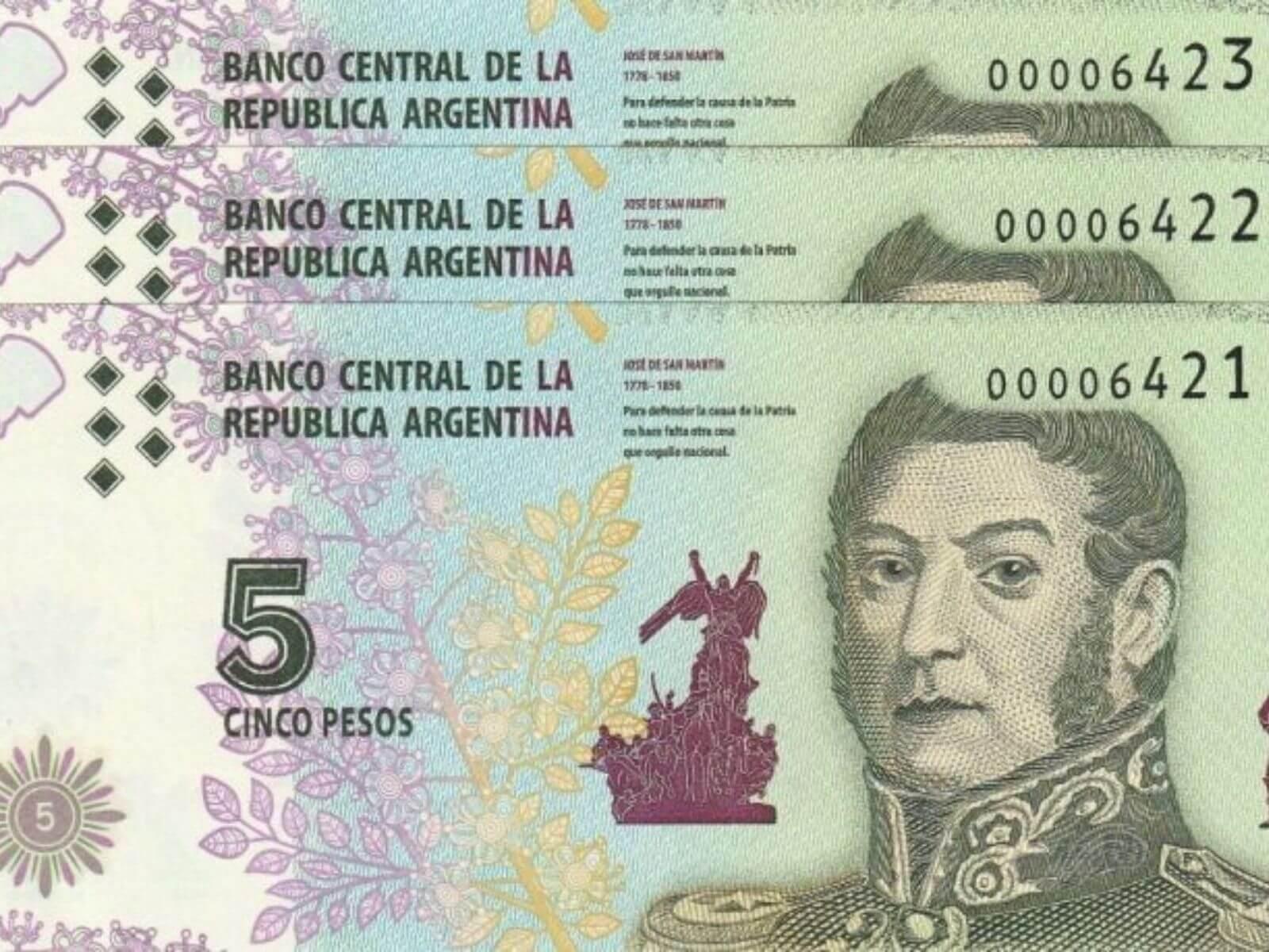Los comercios que no acepten billetes de $5 serán sancionados